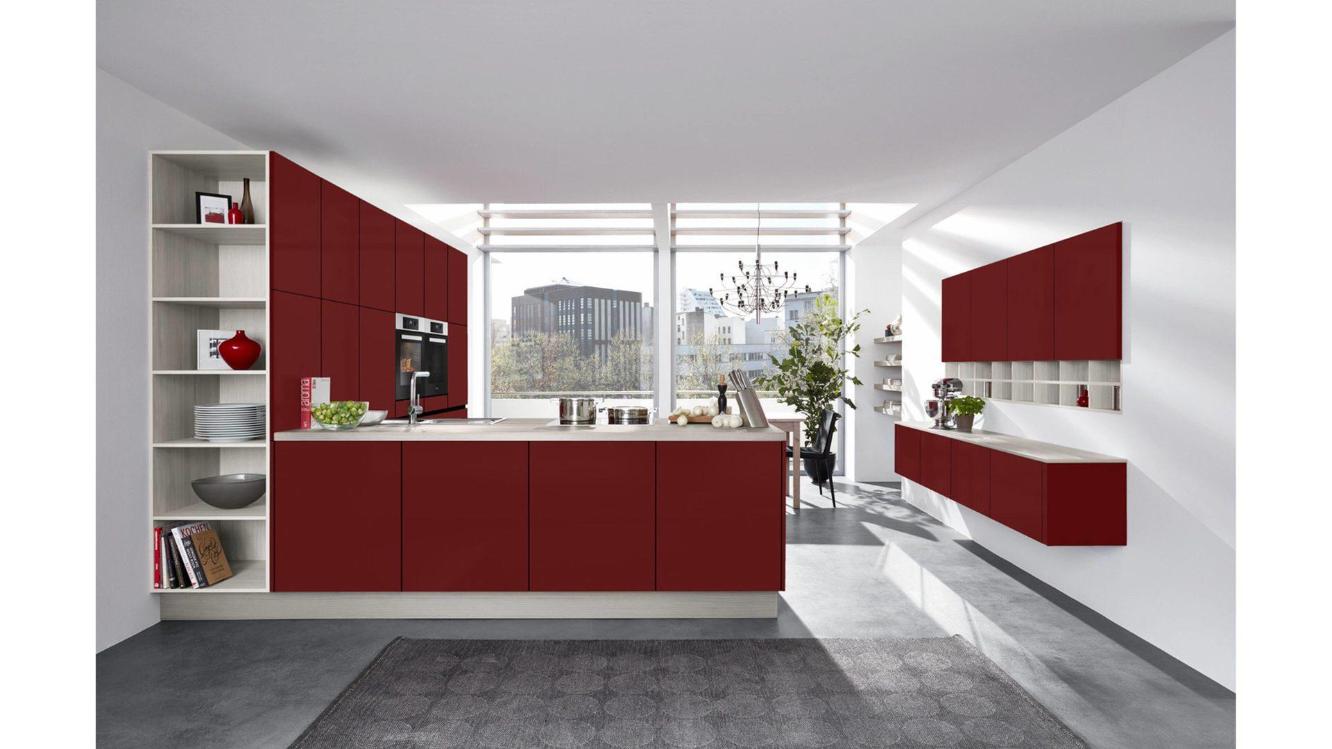 Fantastisch Kirschrote Farbe Farbe Küchenschränke Fotos - Ideen Für ...