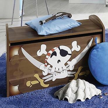 Schatztruhe mit Piraten-Motiv