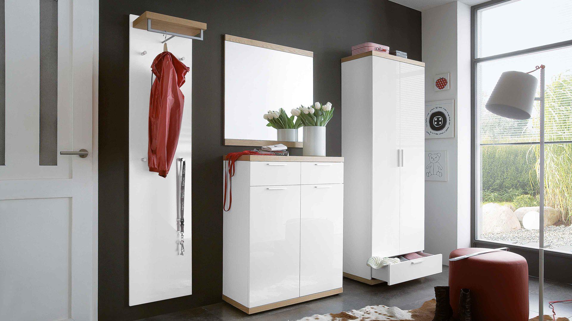 Moderne Wandgarderobe Weiß.Einrichtungspartnerring Markenshops Garderobe Voss
