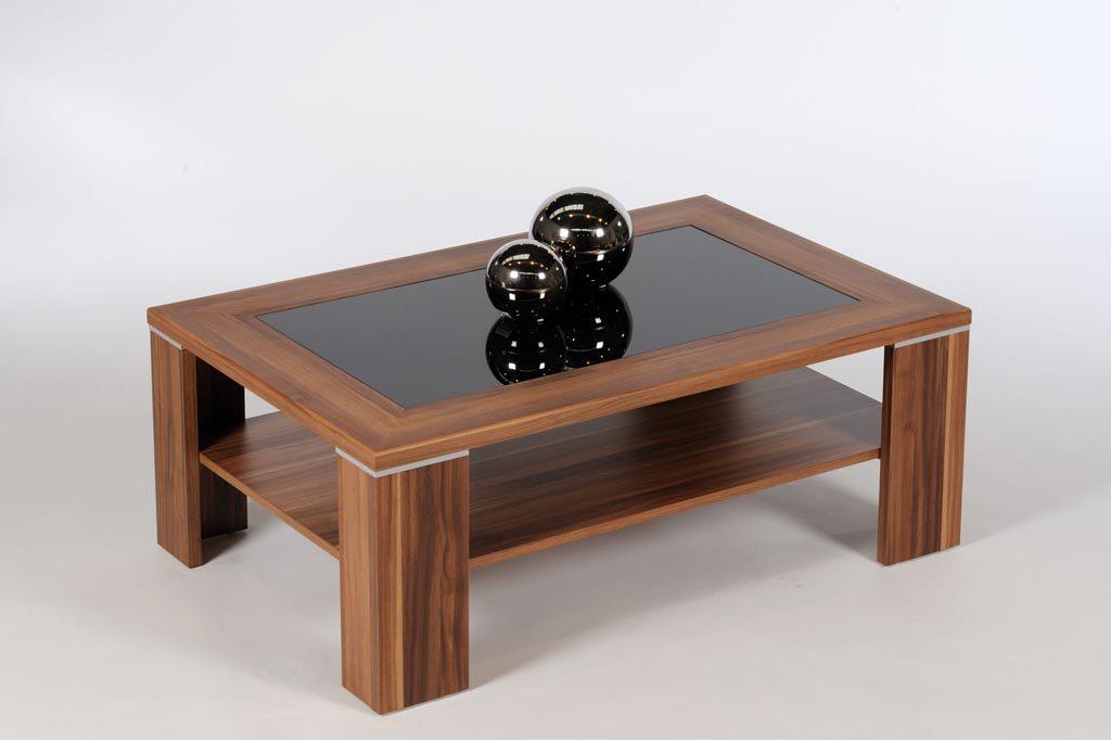 Couchtisch Glas Holz Beistelltisch Mit Glasplatte Jetpulse