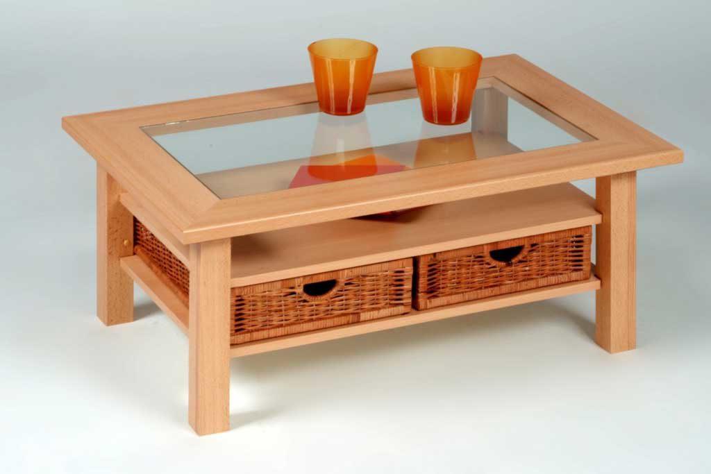 Couchtisch Aus Holz Mit Glasplatte