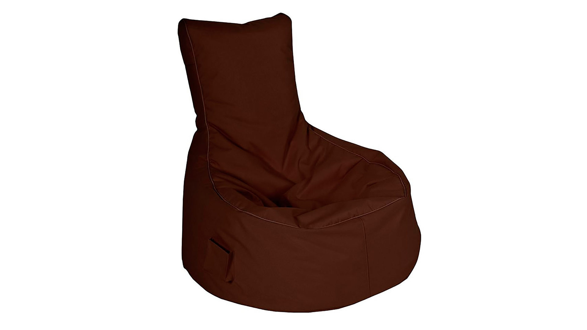 Sitzsack-Sessel Magma sitting point aus Stoff in Braun SITTING POINT Sitzsack-Sessel Scuba Swing dunkelbrauner Kunstfaserbezug - ca. 95 x 90 x 65 cm