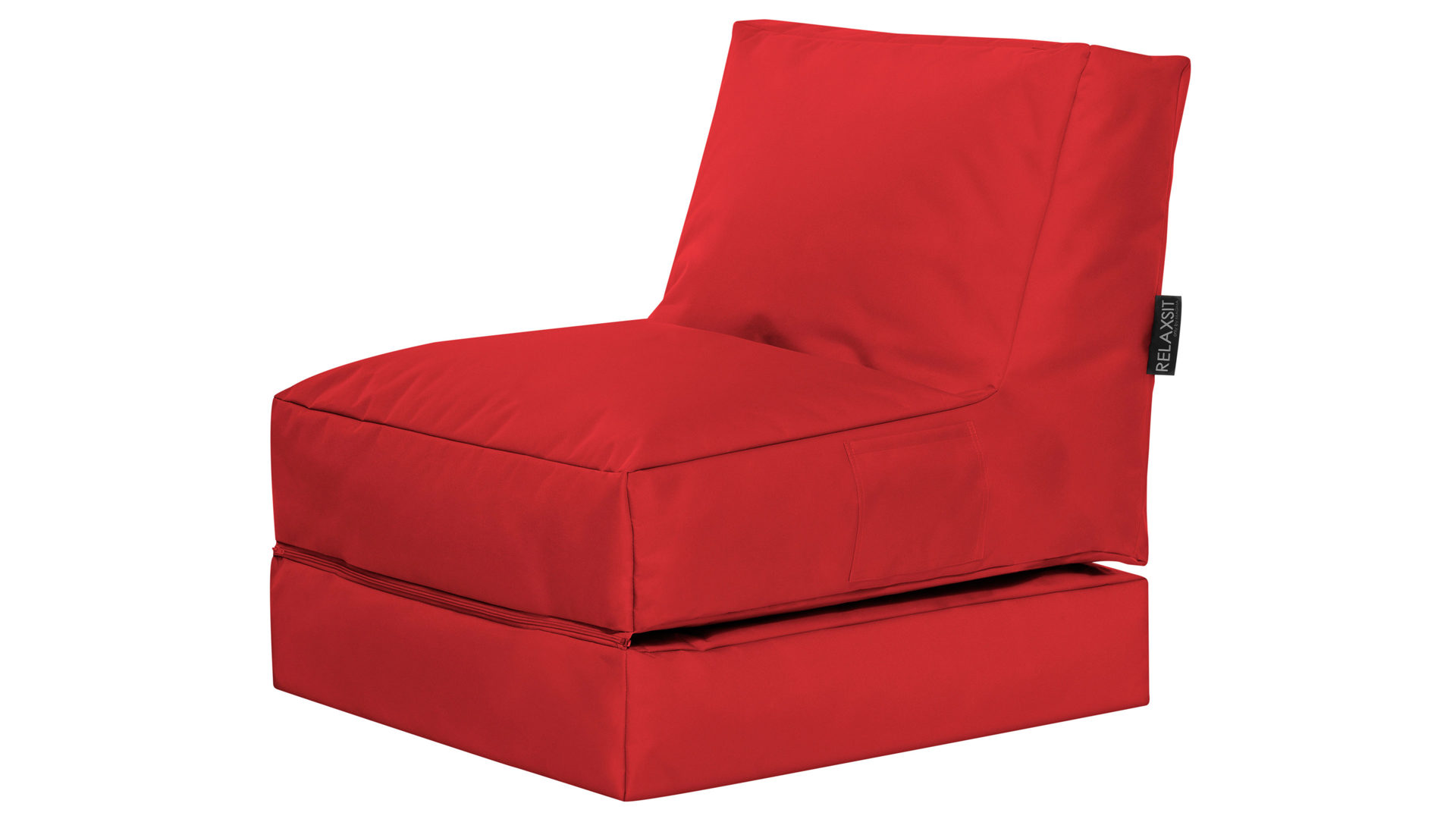 Sitzsack-Liege Magma sitting point aus Kunstfaser in Rot SITTING POINT Funktions-Sitzsack Twist Scuba roter Kunstfaserbezug - ca. 300 Liter