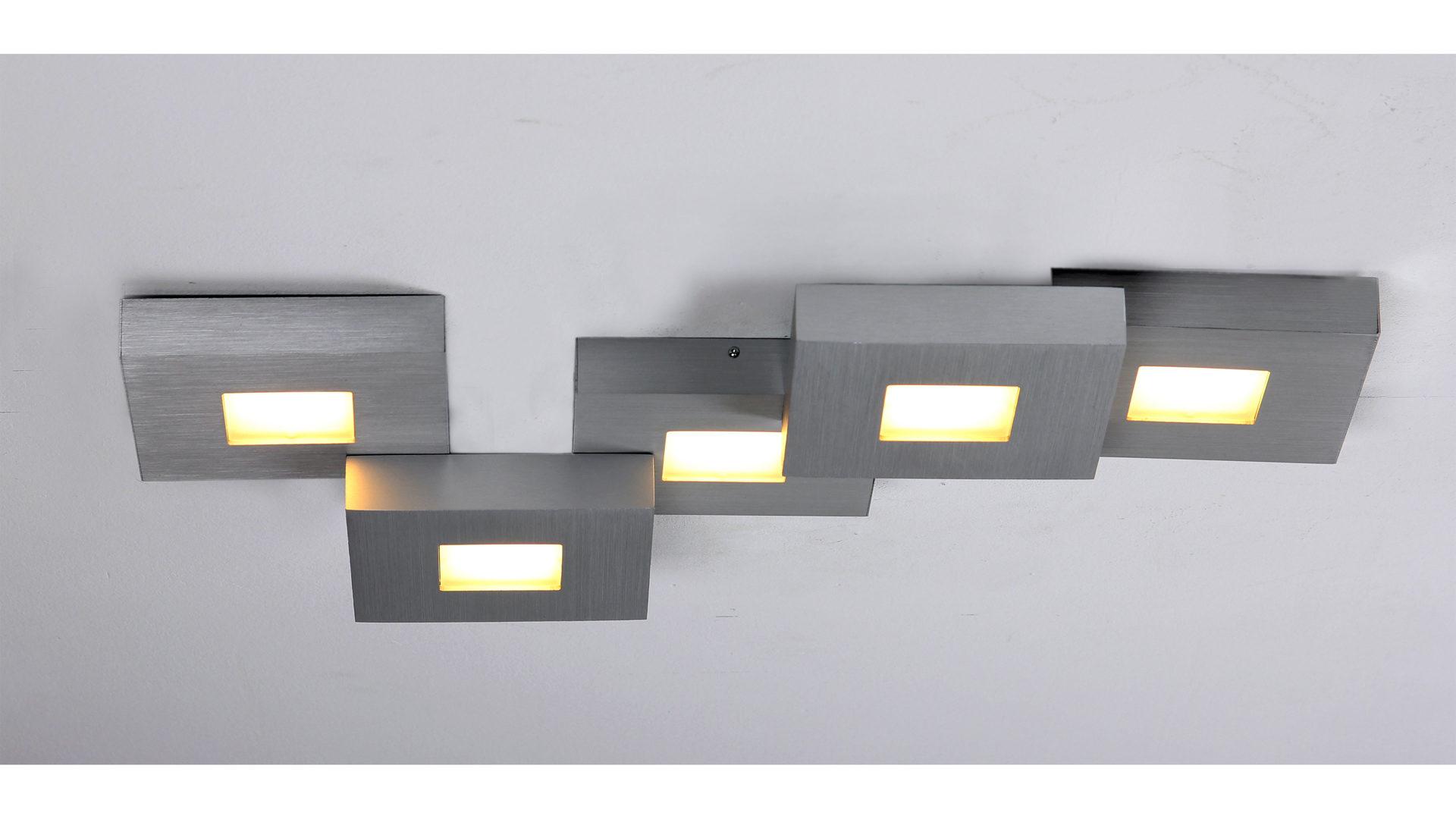 EINRICHTUNGSPARTNERRING, Räume, Küche, Lampen + Leuchten, BOPP, BOPP LED  Deckenleuchte Cubus, Aluminium   Länge Ca. 58 Cm